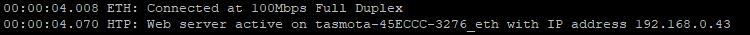 Ethernet_tasmota_configuration