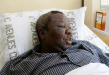 Morgan Tsvangirai in Hospital