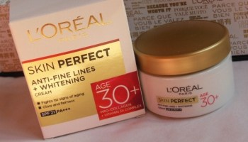 L'Oreal Skin Perfect Anti-Fine Lines+Whitening Cream with SPF 21 PA++ Review