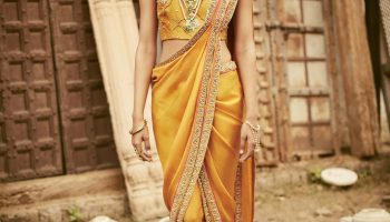 How to wear a dhoti style saree|Step by step tutorial