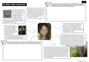 Wuthering Heights Mind Maps with Activities for AS / A Level English Literature