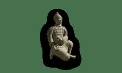 Terracotta soldaat staat voor de geschiedenis van China. In dit geval staat het voor de geschiedenis van de zijde die zijn oorsprong in China heeft