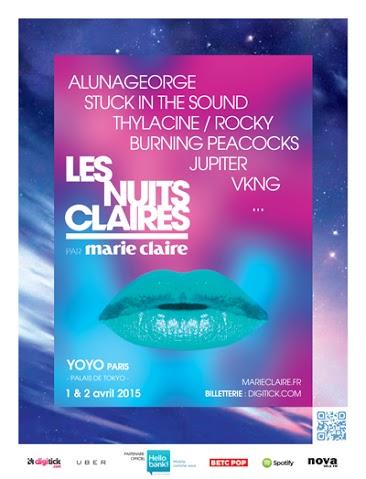 Ziknation t'invite aux «Nuits Claires» les 1er et 2 Avril 2015 au Yoyo