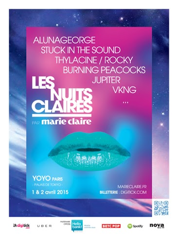 """Ziknation t'invite aux """"Nuits Claires"""" les 1er et 2 Avril 2015 au Yoyo"""