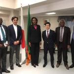在京ザンビア大使を表敬訪問