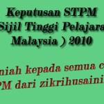 Keputusan STPM PENUH 2010!!