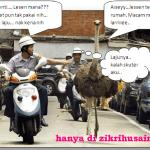 Incik Ostrich kena saman dengan polis, hah laju bebenor