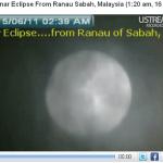 Gambar-gambar gerhana bulan 16 Jun 2011,