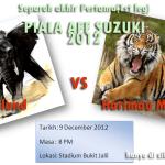 Persiapan 1st leg MALAYSIA VS THAILAND, semi final Piala AFF 2012