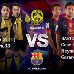 Keputusan perlawanan persabahatan malaysia 1 vs barcelona 3, 10 ogos 2013
