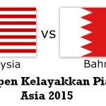 Keputusan terkini malaysia vs bahrain, kelayakkan piala asia 2015