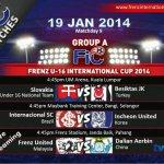 Perlawanan terakhir saingan kumpulan A, frenz united u16 19 jan2014