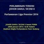 Jdt 2 vs pdrm fa, liga perdana 24 januari 2014
