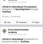 Keputusan dan kedudukan kumpulan B fren u-16 fic 18 januari cup2014,