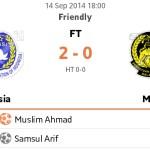 Keputusan persahabatan malaysia vs indonesia 14.09.2014