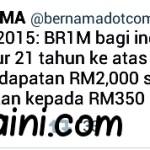 Brim naik wooo, budget 2015!!