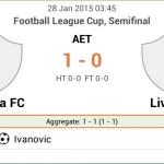 Keputusan liverpool vs chelsea league cup semi final 28.01.2015