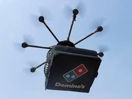 drone, drone bawa pizza,