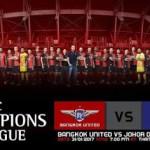 Live streaming JDT vs Bangkok United kelayakkan ACL 31.1.2017