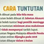 Cara nak tuntut(claim) wang tak dituntut secara manual/online