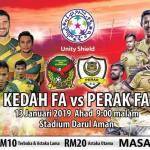 Live streaming kedah vs perak unity shield 13.1.2019