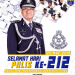 """Selamat hari Polis yang ke 212, """"Polis dan Masyarakat Berpisah Tiada"""""""