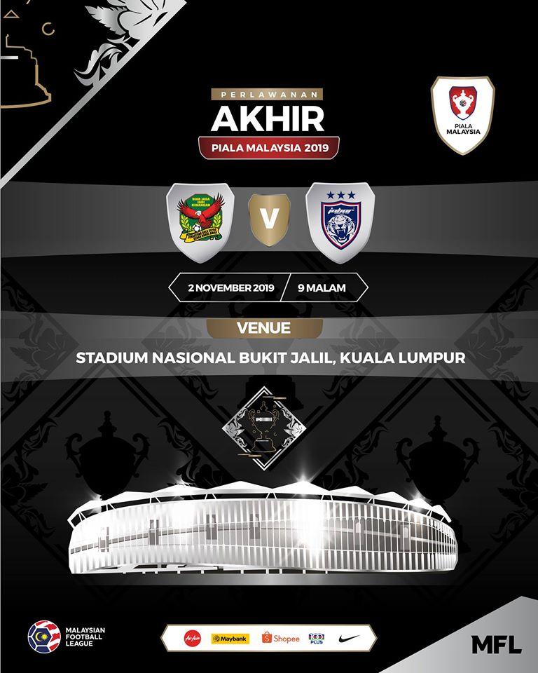 info final piala malaysia 2019, jdt vs kedah, lokasi final piala malaysia 2019,