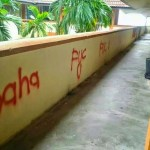 Karangan, Vandalism