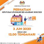 Keputusan UPU online 2020