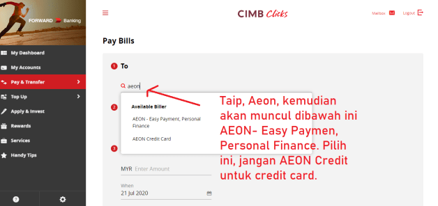 cara bayar aeon loan part3