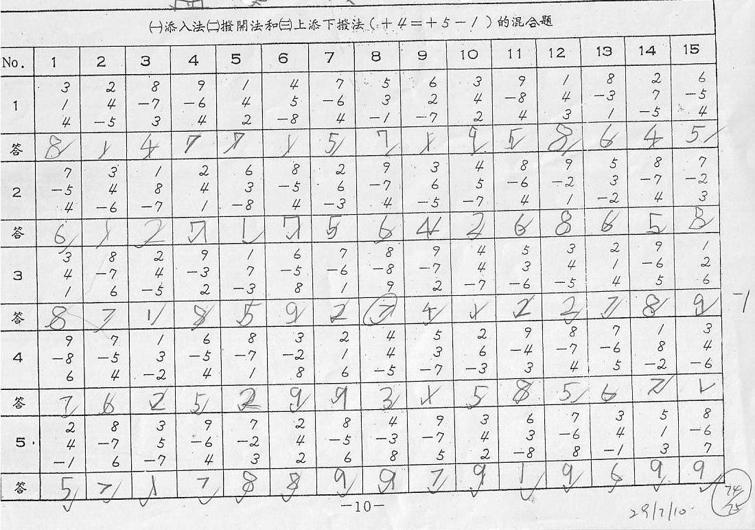 98 Kumon Worksheets 5a