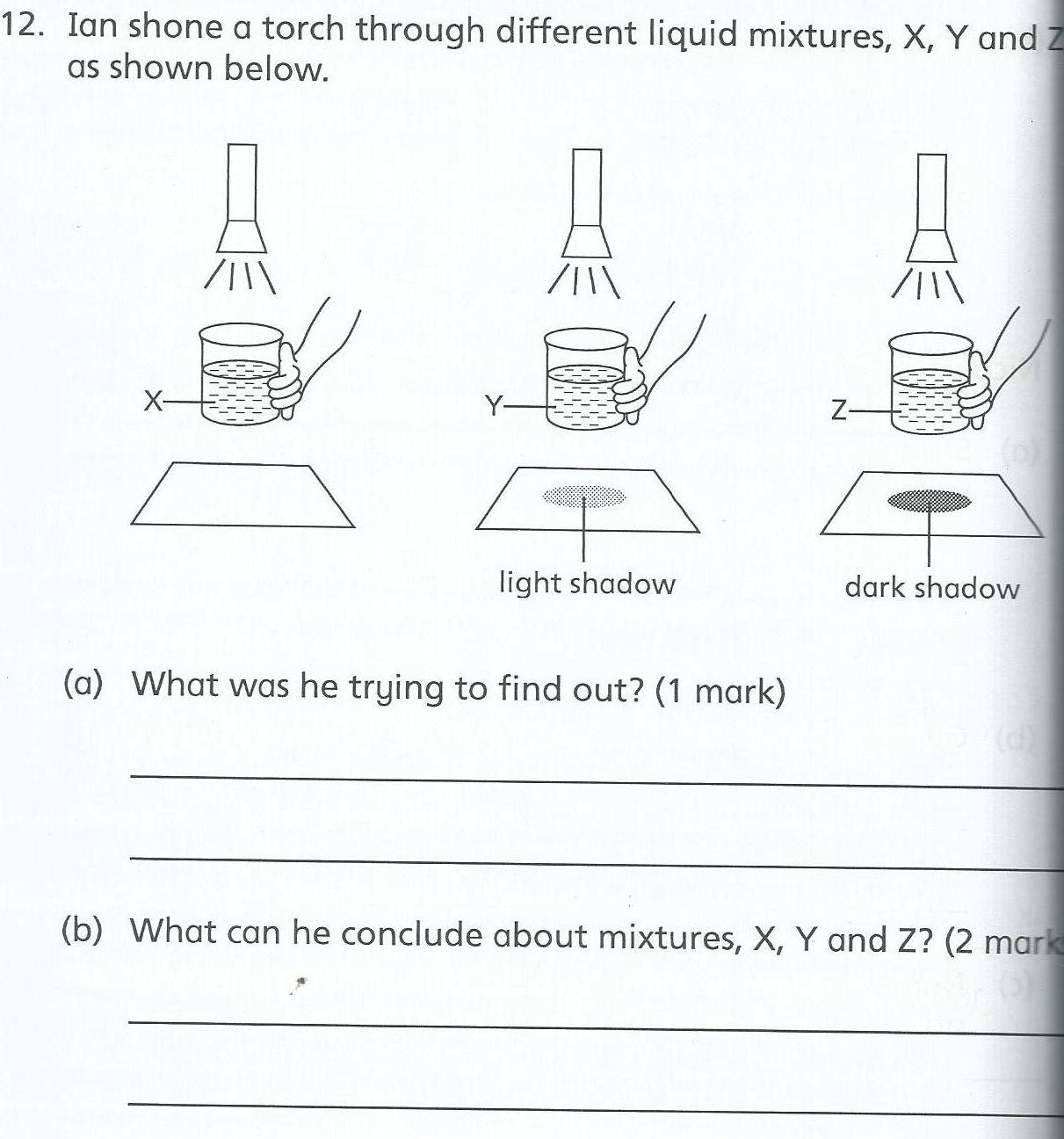 Science Worksheet Light And Shadow
