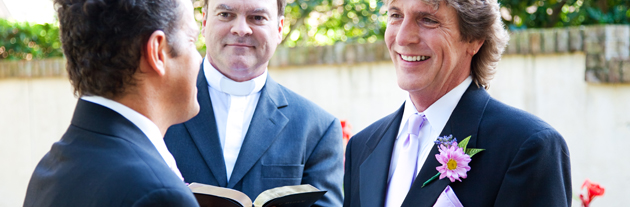 Same-sex wedding officiate