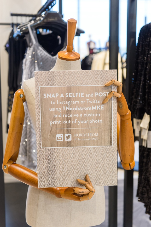 Selfies and Hashtags at Milwaukee Nordstrom Event