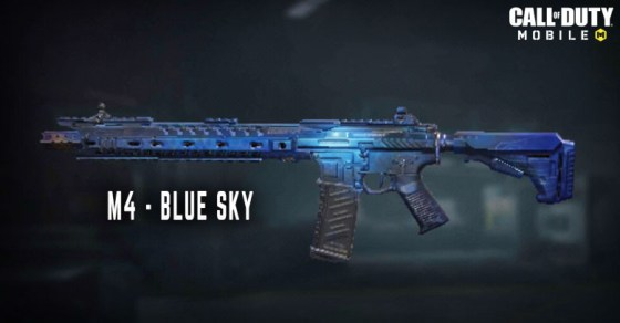 Call of Duty MobileのBlue Sky M4スキン。