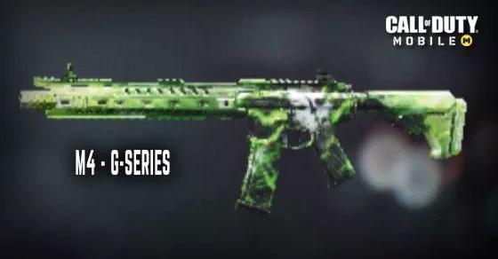 Call of Duty MobileのGシリーズM4スキン。