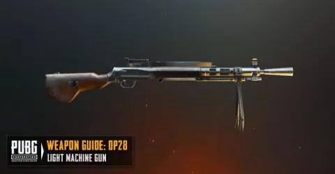 سلاح لعبة ببجي رشاش DP 28