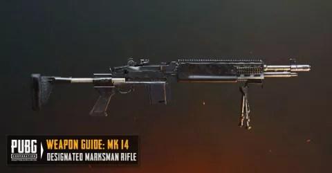 سلاح بندقية لعبة ببجي Mk14