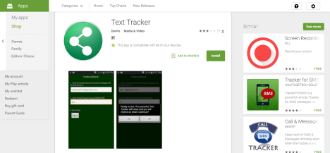 text tracket