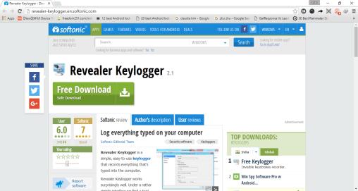 revealer keylogger