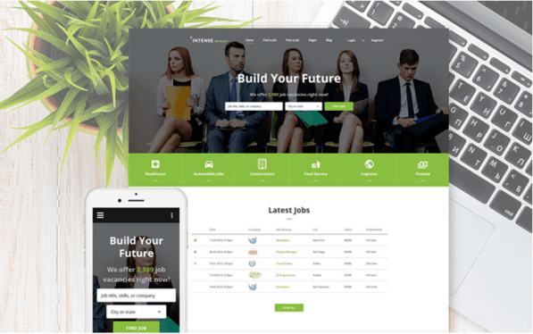 job-board-employment-website-template