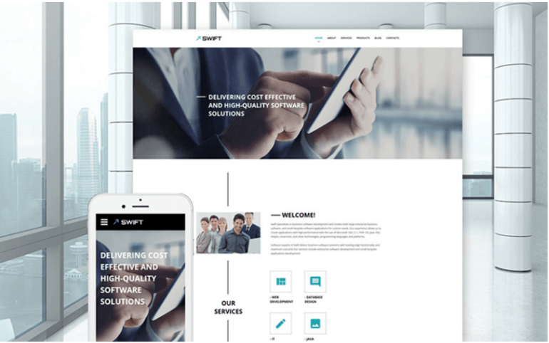 swift-business-website-template