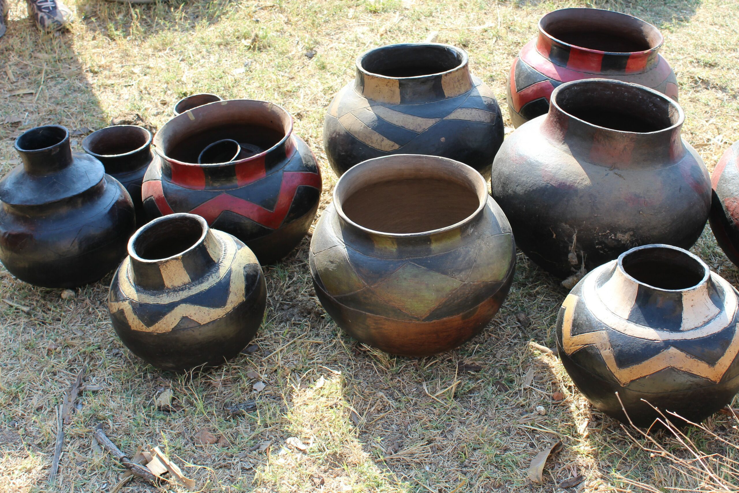 Collection of tradtional Shona pottery