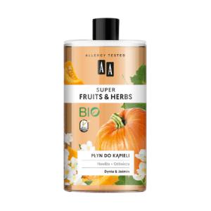 AA, Super Fruits & Herbs, Bubble Bath with Pumpkin & Jasmine 750ml
