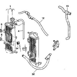 Mangueira do cilindro aos radiadores Husqvarna TE 00-02
