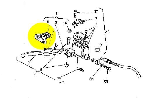 Protetor do manete de freio Husqvarna WR-TE 2002-2009