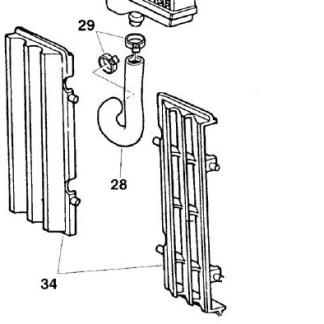 Grade de proteção do radiador Husqvarna WR/TE