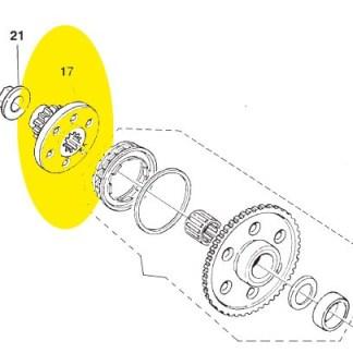 Engrenagem de partida Husqvarna TE 450-510 2007-2009