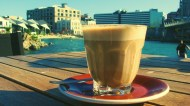 Travel and coffee: what's not to like? Cafe Eis, Frank Kitts Park Wellington. Photo: Su Leslie, 2010.