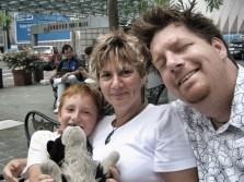 Singapore selfie, 2006. Photo: Gray-Leslie family archive.